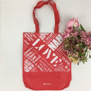 Lululemon Large Reusable Shoppers Tote Bag